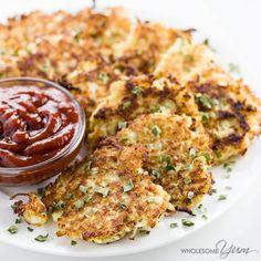 6-Ingredient Cauliflower Hash Browns (Low Carb, Paleo)