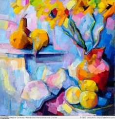 "Still Life by Lena Levin 20""×20"" (50.8×50.8cm) Oil on canvas"
