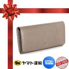 プレゼント★ご褒美に★グレー2つ折り長財布【Anya Hindmarch】