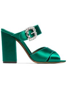 TABITHA SIMMONS Reyner 100 crystal buckle sandals. #tabithasimmons #shoes #