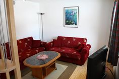 Wohnzimmer Ferienhaus Panorama Sofa, Couch, Furniture, Home Decor, Cottage House, Living Room, Settee, Settee, Couches
