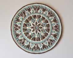 Mint Coffee Mandala Pattern - LillaBjörn's Crochet World