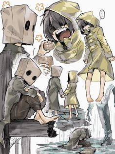 Piskel Art, Little Nightmares Fanart, Cartoon Kunst, Arte Obscura, Cartoon Art Styles, Kawaii Art, Art Reference Poses, Character Design Inspiration, Anime Art Girl