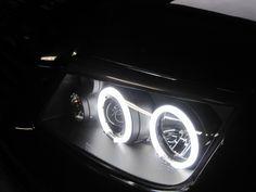 My ccfl e-code headlights on my mk4 jetta and the carbon fiber eyelids