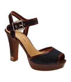 Denim sandals.....available at Dillards.com