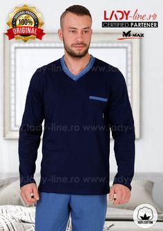 Pijamale Barbati, Bumbac 'Pacific', M-Max Men Sweater, Lady, Long Sleeve, Sleeves, Sweaters, Mens Tops, T Shirt, Fashion, Babydoll Sheep