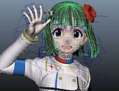 3d anime face rigging waving