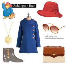 """Outfit inspired by Michael Bond's """"A Bear Called Paddington"""".     """"It's nice having a bear about the house."""""""