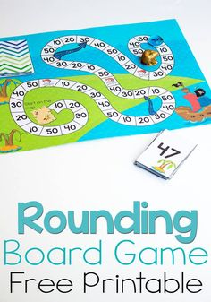 This free printable pirate board game for rounding to the nearest ten is a great way to practice rounding! So much fun, the kids will love playing! This is a greta learning board game for your student Math Board Games, Printable Board Games, Math Boards, Board Games For Kids, Math Games, Childrens Board Games, Multiplication Games, Printable Numbers, Dice Games