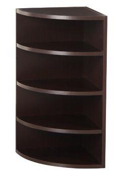 Foremost 328009 Modular Corner Radius Cube Storage System Espresso Shelves Olivia Decor