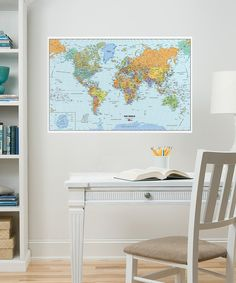 Another great find on #zulily! World Map Dry-Erase Decal by WallPops! #zulilyfinds
