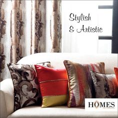 Give your home furnishings a wonderful fusion of style and art with #Homes! Explore more on www.homesfurnishings.com #HomeDecor #HomeFurnishings #InteriorDesign #InteriorDecoration #homes #interiors #homeinteriors #pillows #curtains #pillowdesigns #curtaindesigns.