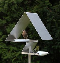 Birdhouses and Bird Baths Design | Opossum Design via  Fubiz™