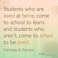 Students who are loved...