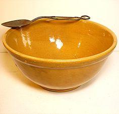 Vintage stoneware mixing bowl