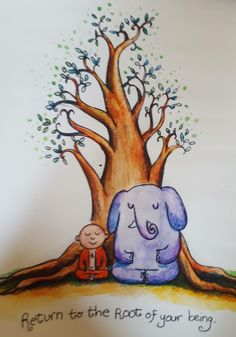What is Meditation and What Are Its Benefits Baby Buddha, Little Buddha, What Is Meditation, Mindfulness Meditation, Elephant Doodle, Buddah Doodles, Zen Quotes, Life Quotes, Awakening Quotes