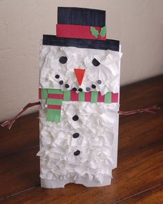 Activities: Snowman Paper Bag Puppet