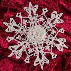 3D Rose del copo de nieve