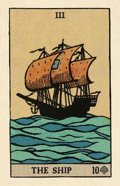 Pixie's Astounding Lenormand - The Ship Photo Wall Collage, Collage Art, Vintage Tarot Cards, Cartomancy, Poster Prints, Art Prints, Hippie Art, Cool Posters, Tarot Decks