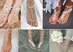 Barefoot Sandals - Acessório para noivas, noivas, casamento na praia, acessórios para noivas, sandália para noivas, casamento, blog de casamento, praia