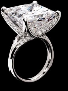 "22.25 carat  Princess cut Diamond Ring.... Cuz theres no such thing as a diamond ""too big"""