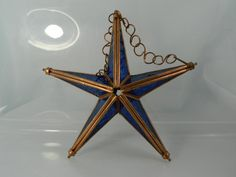 Vintage Star Stained Glass Bue and Antiqued by 3sisterstreasures, $12.99