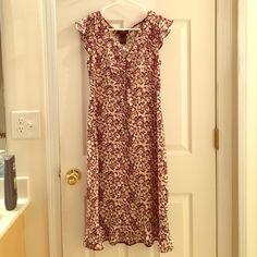 BCBG dress Very pretty pink/black dress. Worn once BCBGMaxAzria Dresses Midi