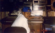 """Screw @ Samplified Digital Recording Studio during the recording of '3 N tha Mornin' in 1996. (From """"DJ Screw and the Rise of Houston Hip Hop"""" Exhibition @ M.D. Anderson Library: March 19 - September 21, 2012   via University of Houston Digital Library) #DJScrew #HTown #Screw #SUC"""