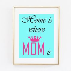 Mothers Day Gift Poster Instant download by OMyGlam on Etsy