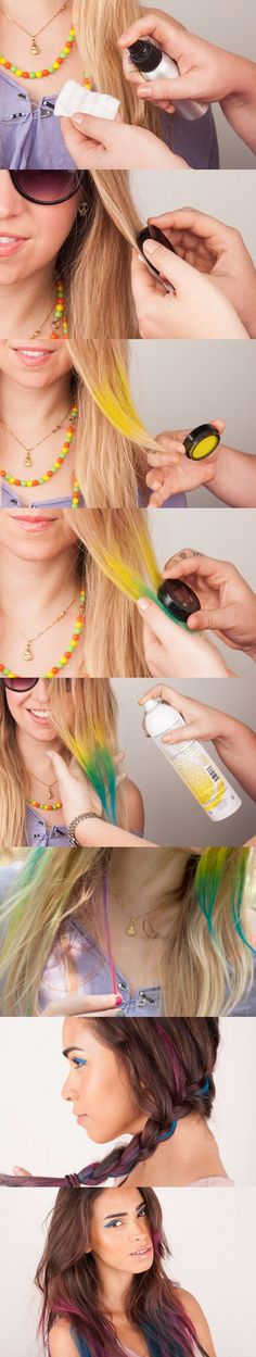 Color temporal para el cabello - beautylish.com - DIY Temporary Hair Color