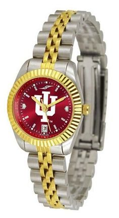 Indiana University Hoosiers Ladies Gold Dress Watch