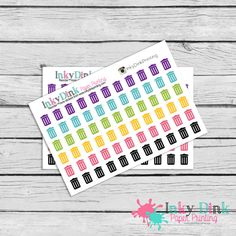 Trash can Stickers by InkyDinkPrinting -- 66 count color(s): slate & green 2.87 euros