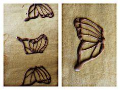 Przepisy Kulinarne: Motyle z czekolady do dekoracji tortów i ciast.