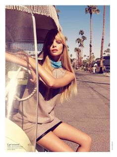 Marloes Horst & Kendra Spears by Nicole Bentley for Vogue Australia Feb 2012.