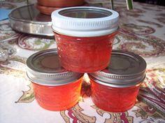 Blushing peach jelly