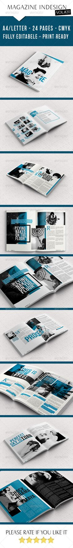 Creative Magazine Template — InDesign INDD #layout #indesign template • Available here → https://graphicriver.net/item/creative-magazine-template/7641542?ref=pxcr