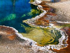 Thermal Spring at Yellowstone by Kenneth Keifer