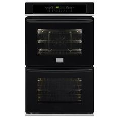 Gallery Self-Cleaning Convection Double Electric Wall Oven (Black) (Common: 30-in; Actual: 30-in)