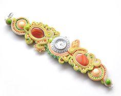 Soutache Watch Wrist Watch Soutache Bracelet by AvennaJewelry