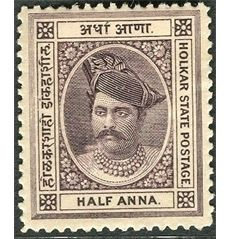 indore, holkar, indian, princely, state, maharaja, stamps, postage,