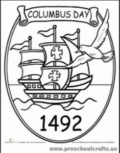 31 best columbus day coloring pages images on pinterest