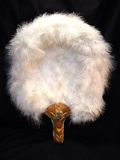 19th century swan feathers fan http://es.pinterest.com/eloise20/hand-fans/