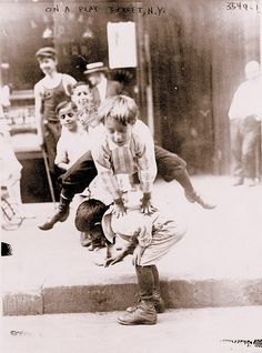 Playing Leapfrog (1908) New York City, New York