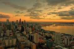 Seattle Sunset Photograph  - Seattle Sunset Fine Art Print