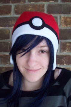 Pokeball Pokemon Hat. $18.00, via Etsy.