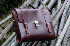 Leather Men Bag Ludena - Mens business bag - computer bag - leather messenger , handmade man briefcase - Leather Shoulder Bag Nature
