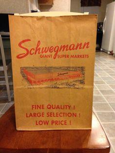 Vintage Schwegmann Paper Bag New Orleans Makin' Groceries