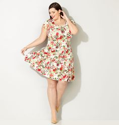 Shop dresses with flattering seam details like our plus size Seamed Floral Fit and Flare Dress available online at avenue.com. Avenue Store