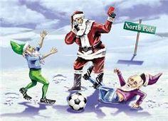 Santa Soccer Christmas List Card. Santa Soccer Christmas List Card ...