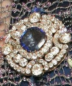 Diamond Sapphire Brooches Queen Beatrix  Holland